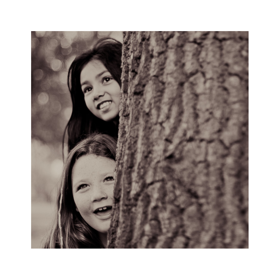 08-Photographs-of-Girls-Playing-in-Woods-Black-and-White