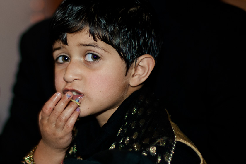 Indian Boy Eating