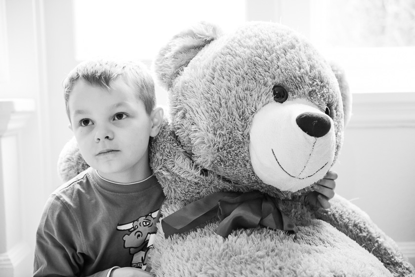 Hugging Teddy Bear