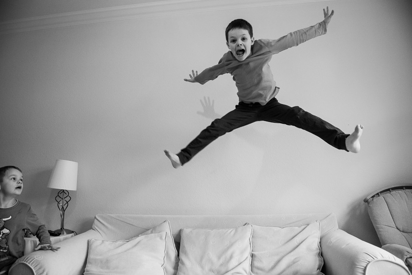 Boy Leaping #1