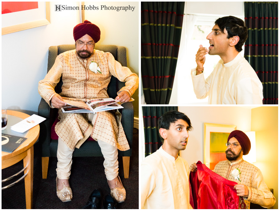 01-Hindu-Groom-Preparing-Eastwood-Hall-Nottingham