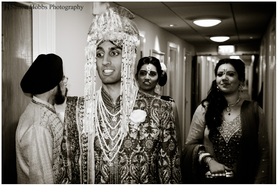 08-Groom-Going-To-Hindu-Ceremony-Nottingham