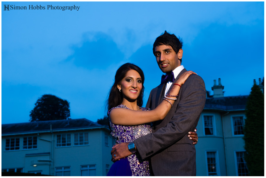31-Evening-Wedding-Portrait-Eastwood-Hall-Nottingham